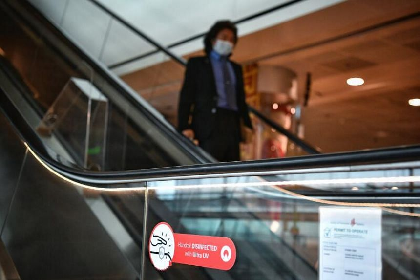 Externally mounted UV-C devices are also being explored for the close to 300 escalators and travellators across Changi's terminals.