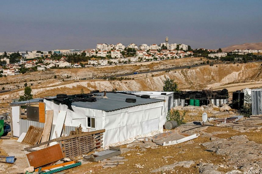 The bedouin encampment of Jabal al-Baba, in the occupied West Bank on the outskirts of Jerusalem.