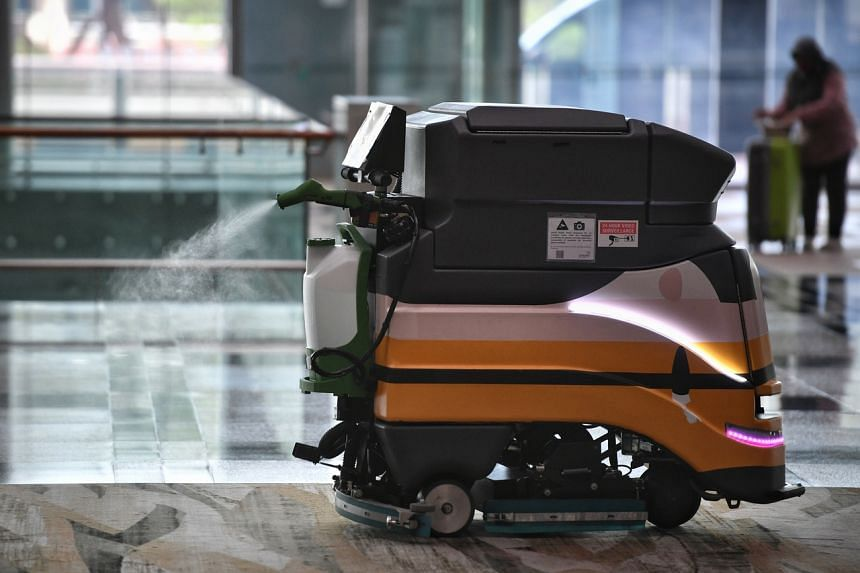 Autonomous cleaning robots have been equipped with a misting attachment that disinfects the carpets immediately after cleaning.