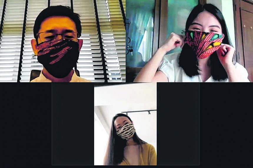Best fabric face masks: The Straits Times style reporter Amanda Chai (top, right), along with Mr Winthrop Wong (top, left), director of Wellchem Pharmaceuticals, whose surgical masks are used by hospitals here; and Dr Teo Wan Lin (above), dermatologi