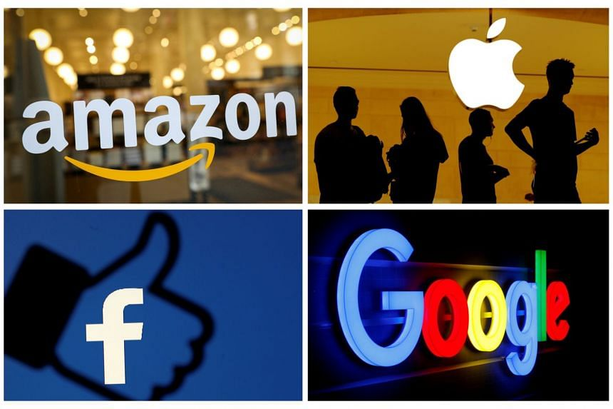 Apple, Amazon, Alphabet, which owns Google, and Facebook are four of the five biggest tech companies by market value.