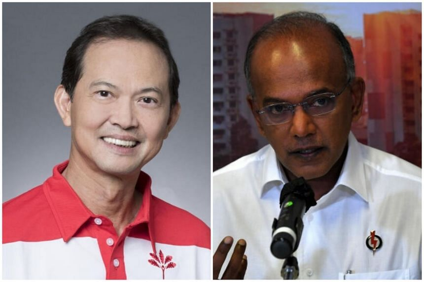 PSP assistant secretary-general Leong Mun Wai (left) was responding to Law and Home Affairs Minister K. Shanmugam's remarks made on Wednesday.