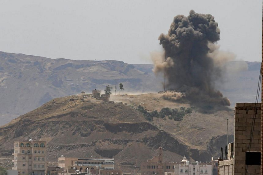 Residents in Sanaa described the air raids as violent.