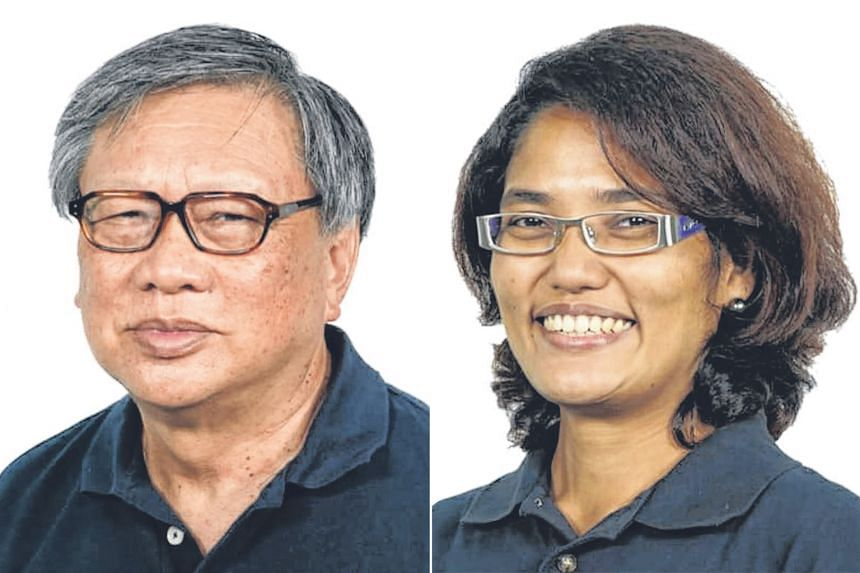 Mr Leong Sze Hian and Ms Vigneswari V. Ramachandran are part of the Peoples Voice party teams contesting Jalan Besar GRC and Pasir Ris-Punggol GRC respectively. PHOTOS: PEOPLES VOICE