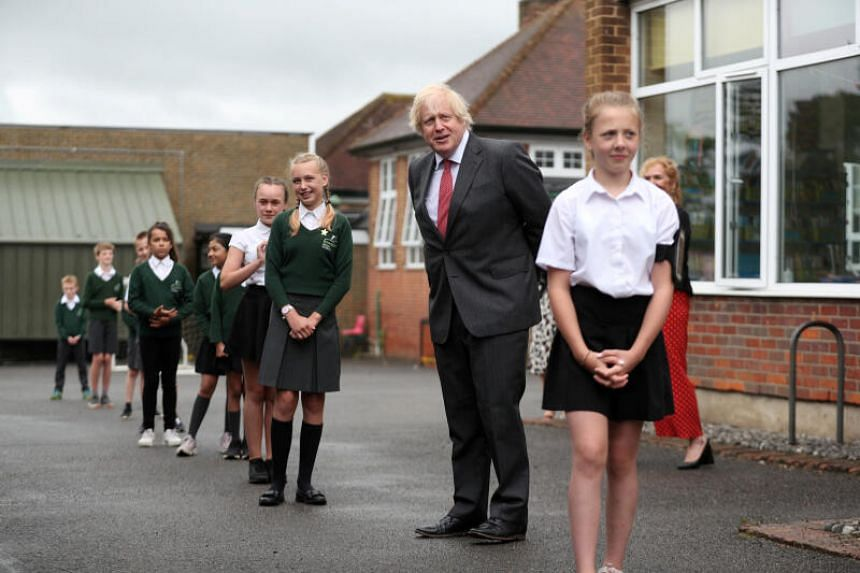 British PM Boris Johnson's government is trying to persuade schools to return to normal.