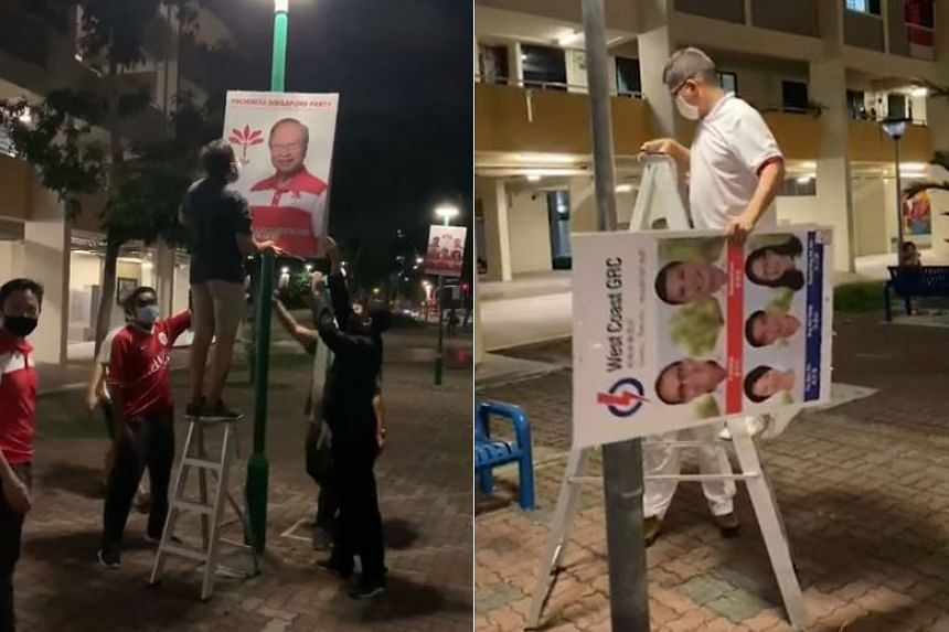 The posters were affixed to open space lamp posts where high volume of traffic was expected.