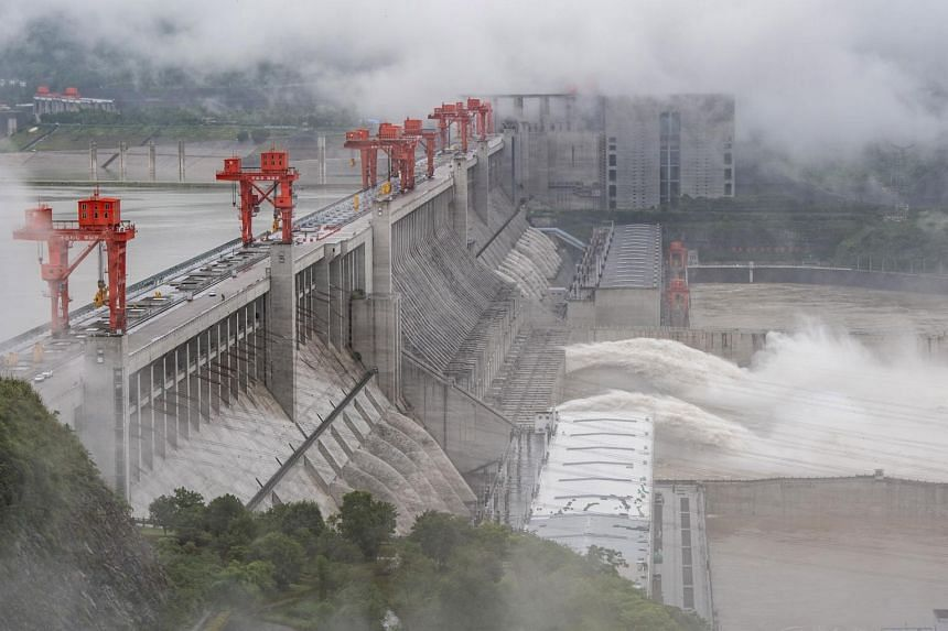 The Three Gorges Dam in Yichang, China, on June 29, 2020.