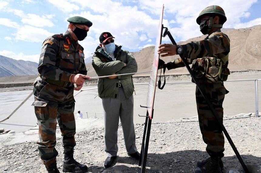 Mr Modi's visit with soldiers in Ladakh yesterday came amid a face-off between Indian and Chinese troops at multiple locations along the Line of Actual Control, the de facto border in the region.