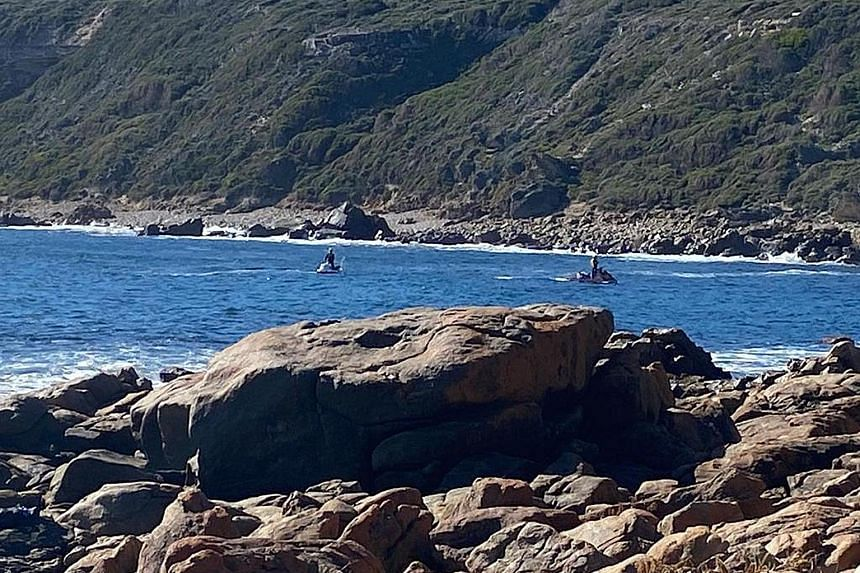 Drones (above) were used in the search for missing Singaporean Goh Heng Yi at Injidup Beach (left) on Australia's western coast. PHOTOS: WESTERN AUSTRALIA POLICE FORCE, COURTESY OF GOH HENG YI'S FRIENDS