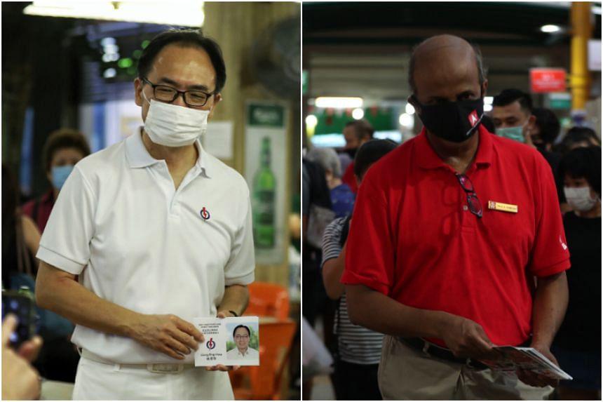 The PAP's Mr Liang Eng Hwa is battling the SDP's Professor Paul Tambyah for the Bukit Panjang seat.
