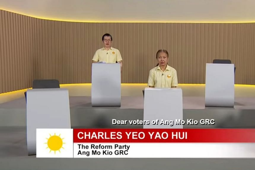 The Reform Party had said its five Ang Mo Kio GRC candidates were not given enough notice to record its constituency political broadcast.