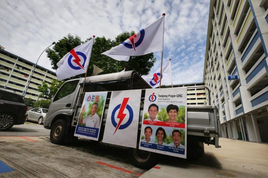 A PAP campaign lorry in Holland Close on June 30, 2020.