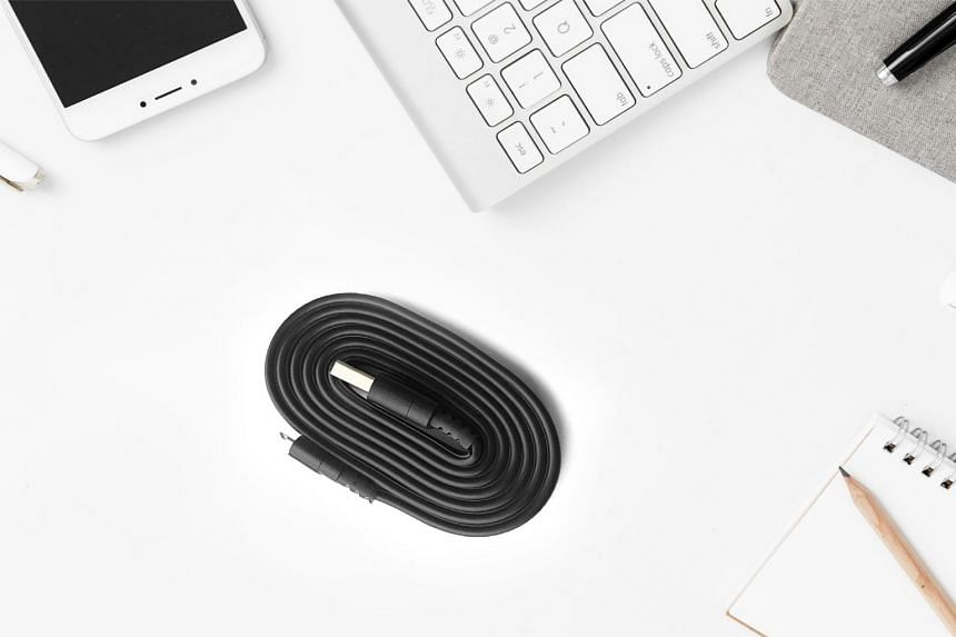BondCable is a charging cable that bonds onto itself when coiled, to keep things neat and tidy.