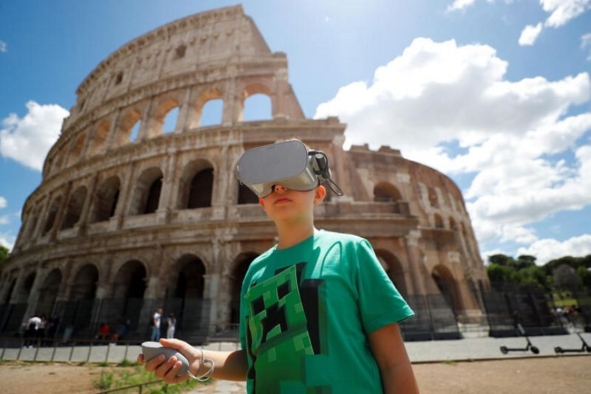 VR creates a virtual environment using headsets that block out a user's surroundings.