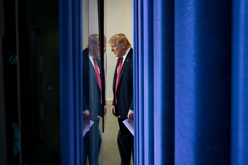 President Donald Trump enters the White House briefing room on July 2, 2020.