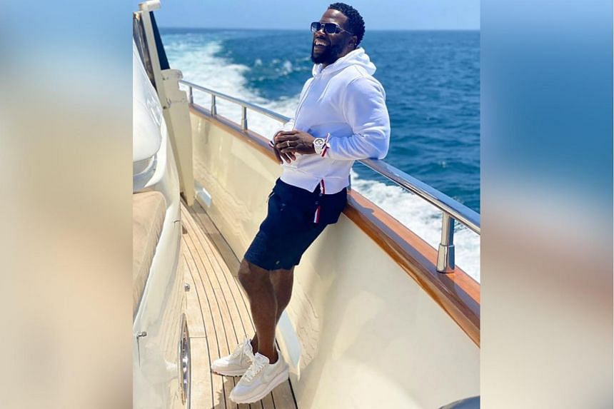 Kevin Hart celebrated his birthday on a yacht on July 6, 2020.