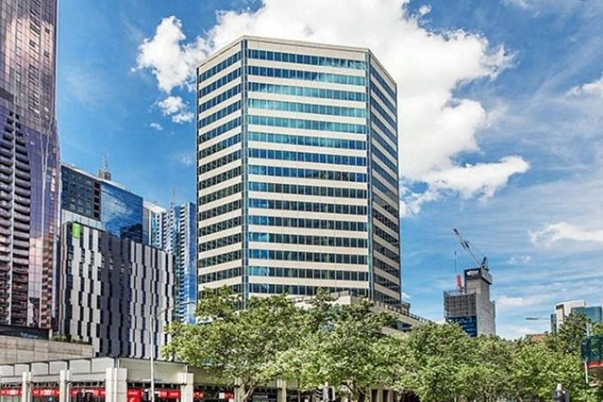 The 21-storey building that property developer Roxy-Pacific Holdings and the private family office of Mr Teo Tong Lim will potentially acquire is situated in the Central Business District of Melbourne. It houses offices, retail offerings and communit