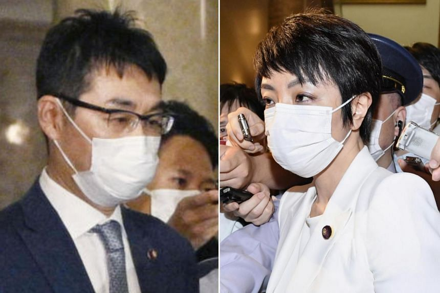 Former Japanese Justice Minister Katsuyuki Kawai and his lawmaker wife Anri were arrested last month.