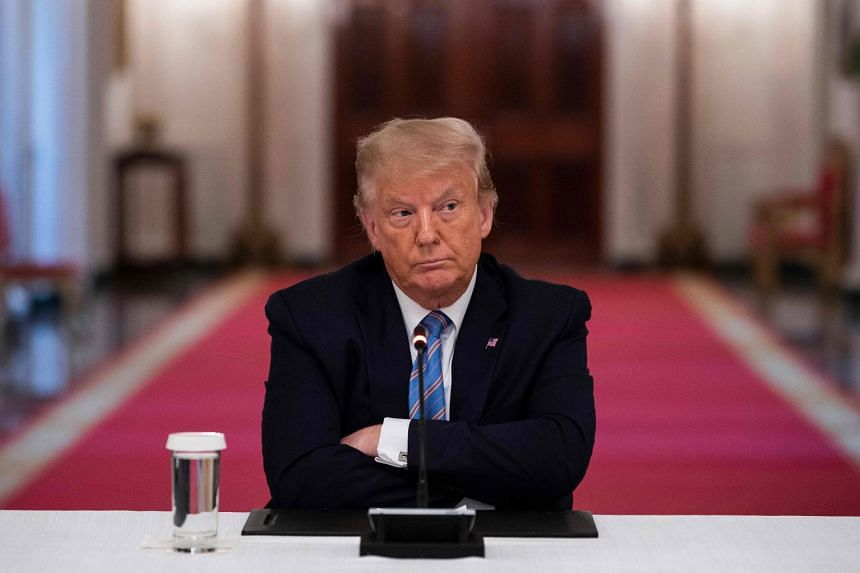 Trump attends a roundtable discussion on the Safe Reopening of America's Schools at the White House on July 7, 2020.