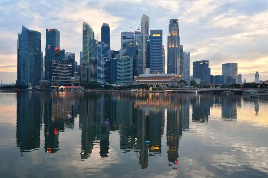 Singapore's skyline on June 6, 2020.