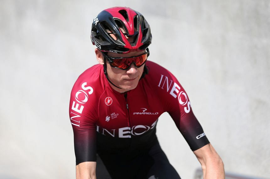 Team Ineos' Chris Froome before a race in Dubai, on Feb 23, 2020.