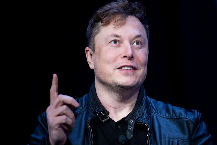 Elon Musk speaks at the Washington Convention Centre on March 9, 2020.