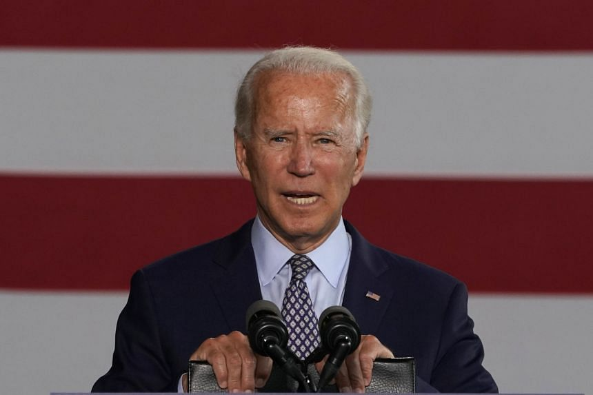 """Joe Biden presented the sweeping """"Build Back Better"""" proposal during a speech at a metal works plant in Pennsylvania."""
