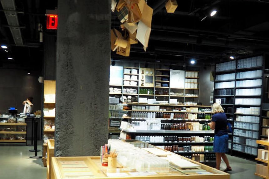 A Muji store in New York, one of the 18 in the US. Its Japanese owner said the US filing will not affect its operations in other markets