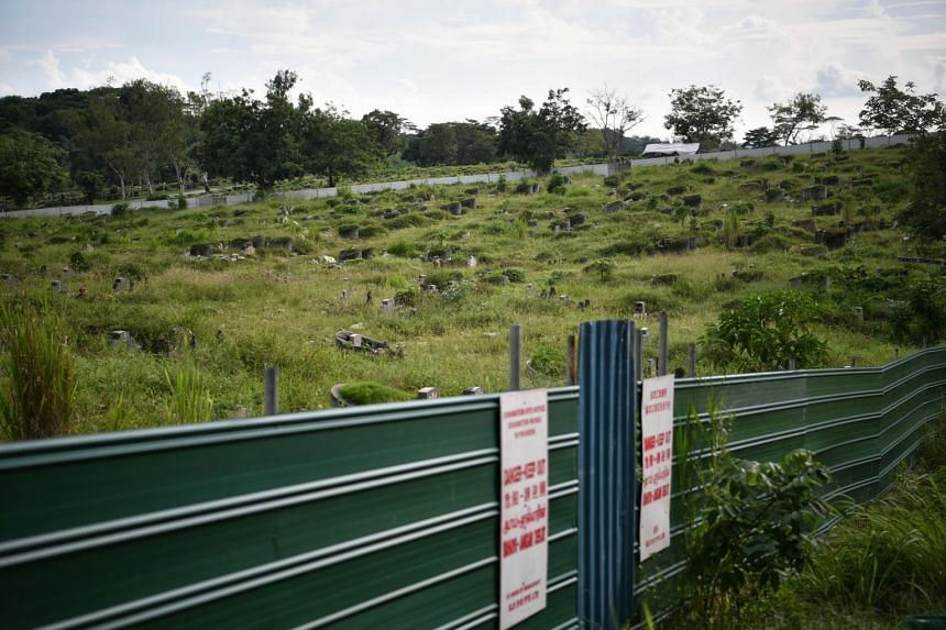 The phased exhumation exercise was first announced in 2017 as part of plans to make way for the expansion of Tengah Air Base.