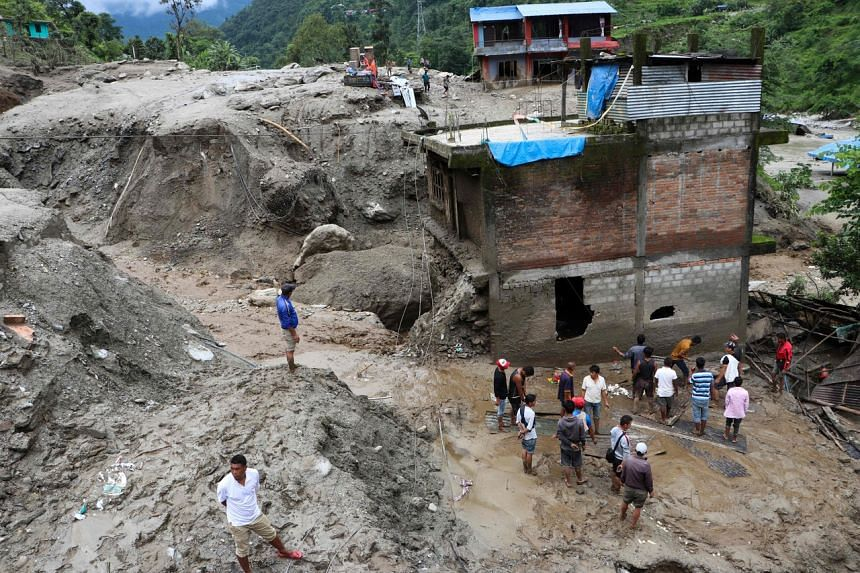 Landslides and flash floods are common occurrences in mountainous Nepal during the June-September monsoon every year.