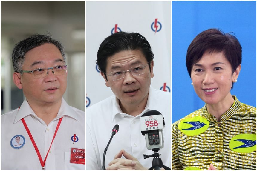 (From left) PAP candidates Gan Kim Yong, Lawrence Wong and Josephine Teo are among the ministers front-and-centre in the nation's battle against Covid-19.