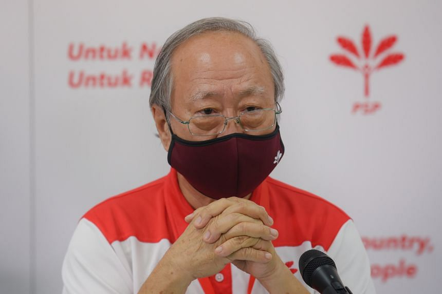 Dr Tan Cheng Bock speaks during a press conference on July 11, 2020.