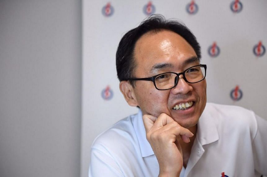 Mr Liang Eng Hwa addressing the media at the PAP's headquarters in Gangsa Road, on July 11, 2020.