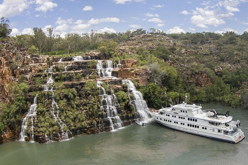 Small boutique ships are taking off, such as the 36-passenger True North (above), which travelled to Western Australia's remote Kimberley region.
