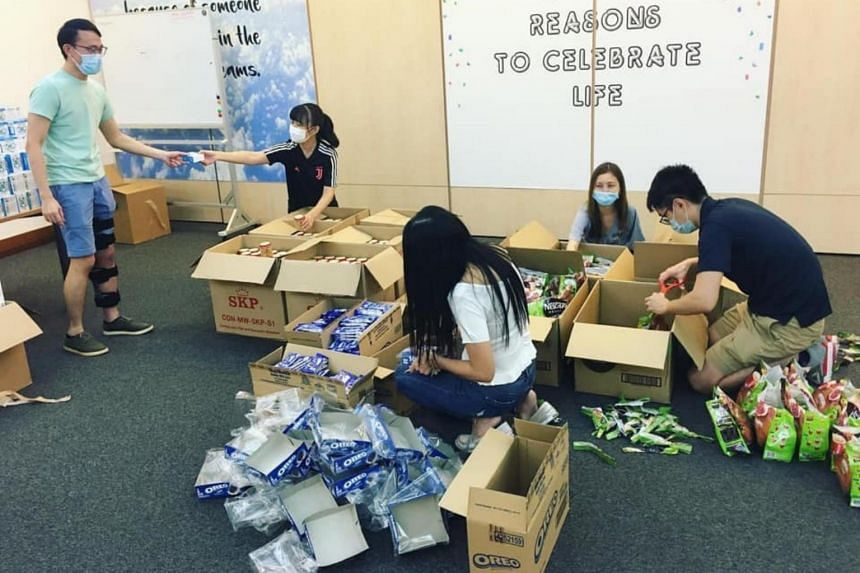 Some 1,000 MRT station cleaners received care packs containing items such as cookies, coffee sachets and origami heart appreciation notes from volunteer group Be Kind SG.