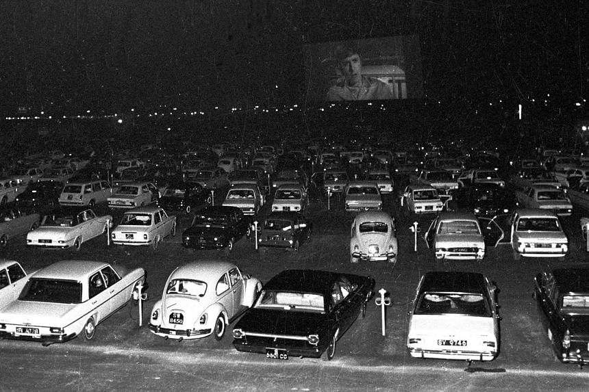 Singapore's first drive-in cinema.