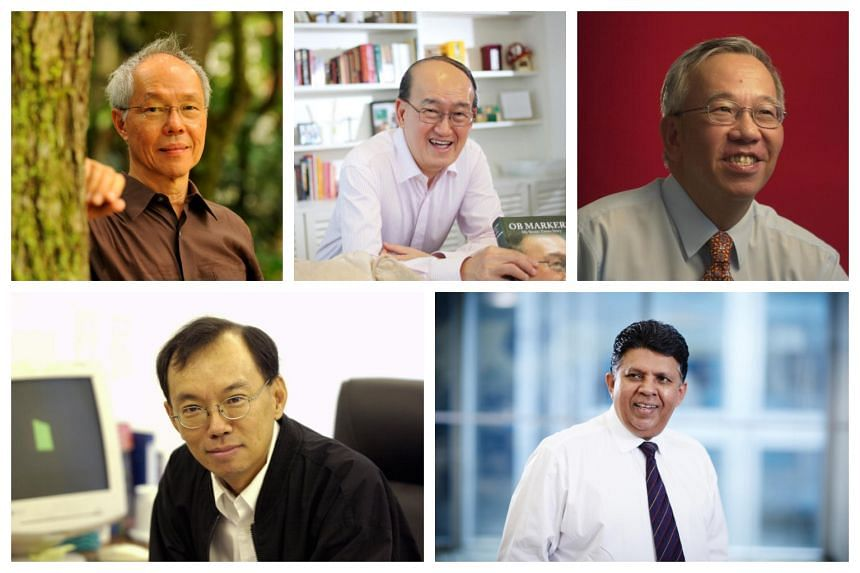 (Clockwise from top left) Former ST Press editor-in-chief from 1978 to 1987 Peter Lim, former ST Editor and SPH Editor-in-Chief Cheong Yip Seng, former ST Editor from 1987 to 2002 Leslie Fong, former ST Editor from 2002 to 2012 Han Fook Kwang, former