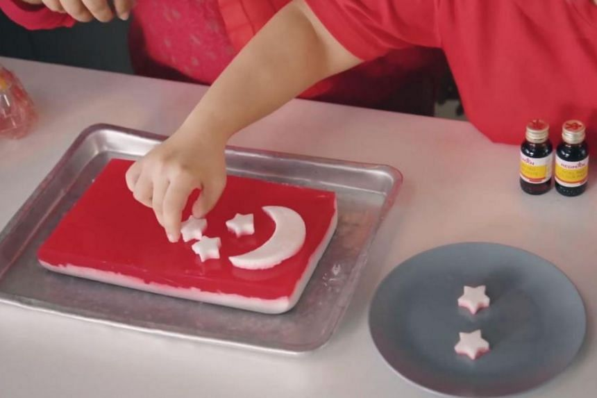 Specially curated desserts with a red-and-white theme will be sold to raise funds for the President's Challenge.