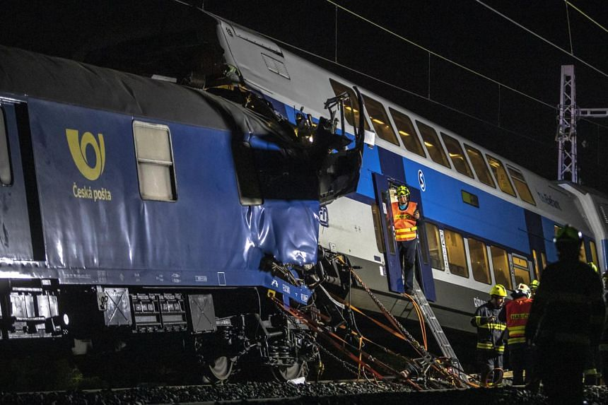 The accident occurred near the town of Cesky Brod on a busy railway connecting Prague with the east of the country.