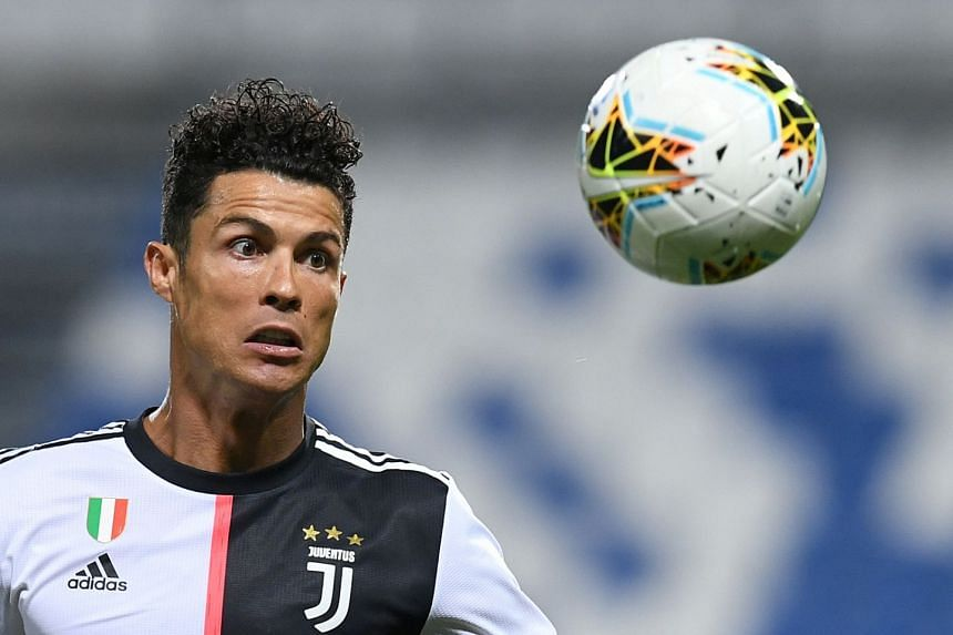 Juventus' Cristiano Ronaldo in action on July 15, 2020.