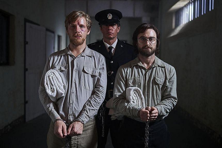 Escape From Pretoria stars Daniel Webber (far left) and Daniel Radcliffe.