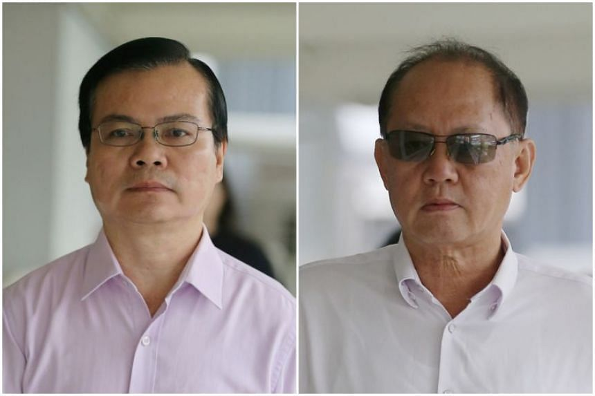 Wong Chee Meng (left) received more than $86,000 in a stream of bribes from Chia Sin Lan.