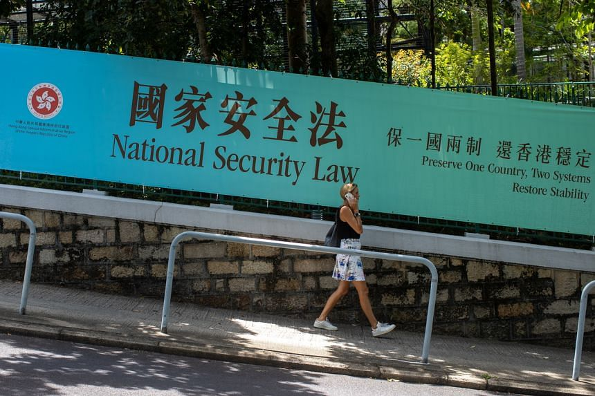 The security law imposed by Beijing punishes what China broadly defines as subversion, secession, terrorism and collusion.