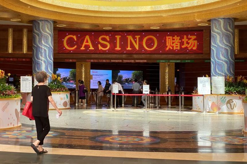 Three visits were recorded at the Resorts World Sentosa casino, on July 4, 5 and 6.