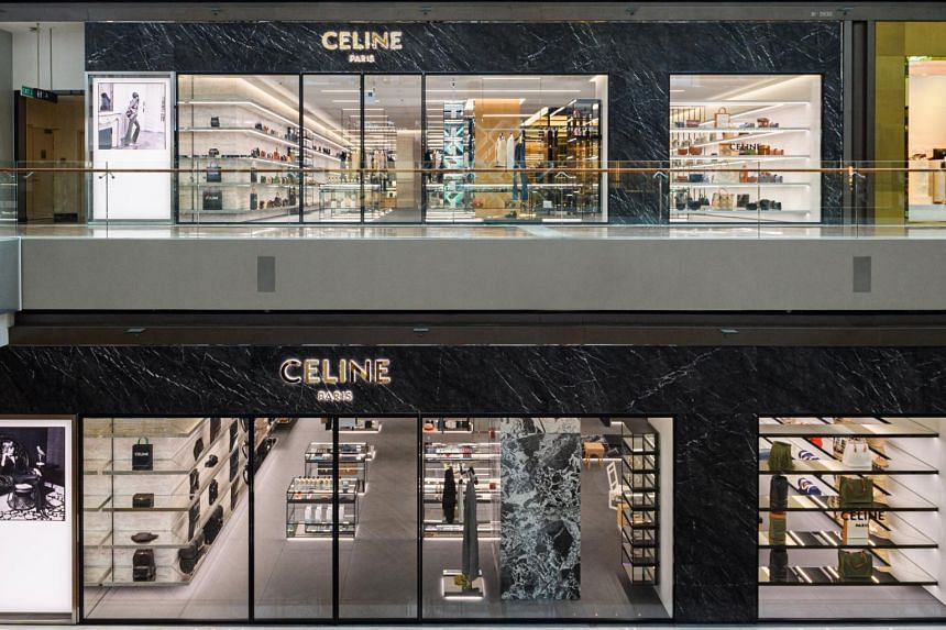 French fashion house Celine has a gleaming revamped double-storey flagship store at The Shoppes at Marina Bay Sands.