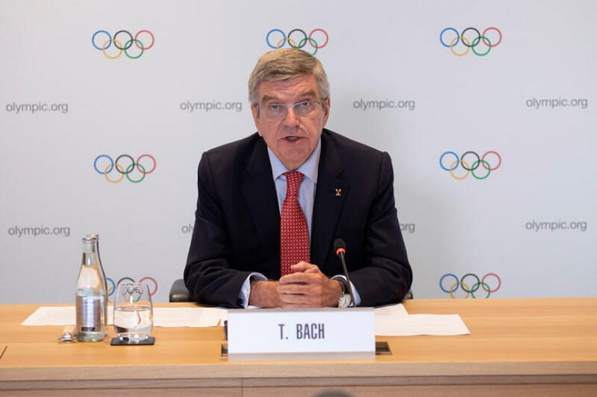 """Mr Thomas Bach said that """"multiple scenarios"""" were under consideration for the rescheduled Games."""