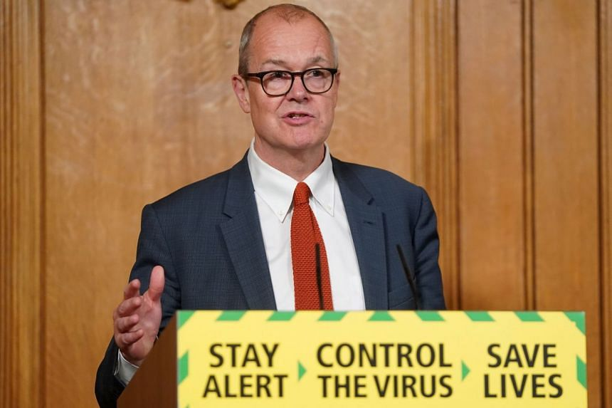 Patrick Vallance holds a digital Covid-19 press conference at 10 Downing street in London.