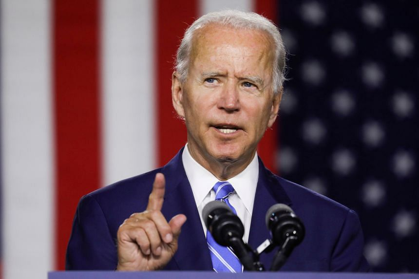 The directive ensures that little will happen beyond speeches from former Vice-President Joe Biden (above), his vice-presidential nominee and a handful of other top party leaders.