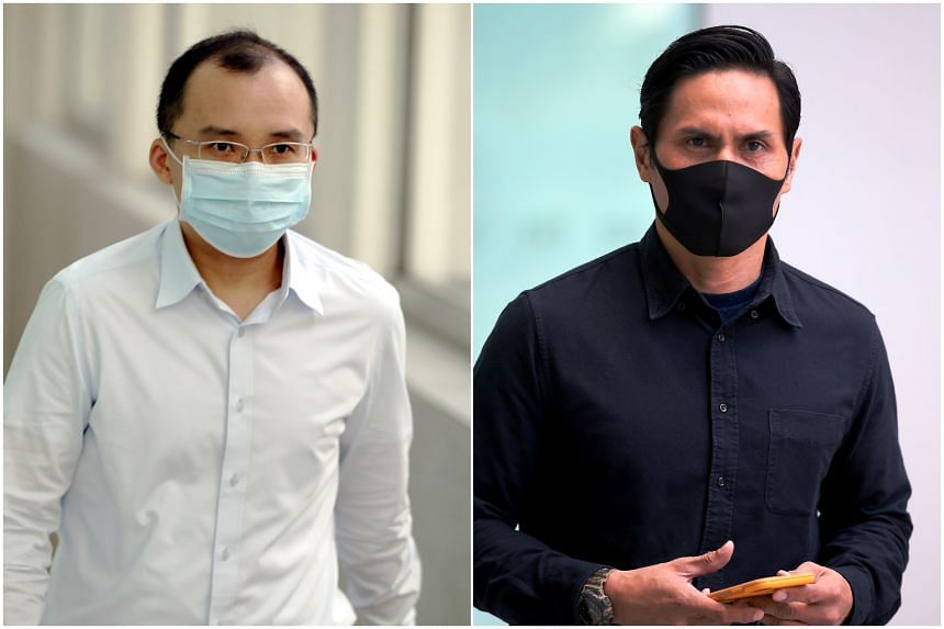 Kenneth Chong Chee Boon (left) and Nazhan Mohamed Nazi were each charged with one count of performing a negligent act by failing to prevent their subordinates from carrying out the ragging activity.