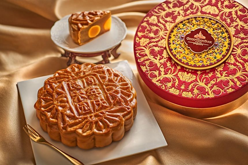 Goodwood Park Hotel's 120th Anniversary Mooncake.